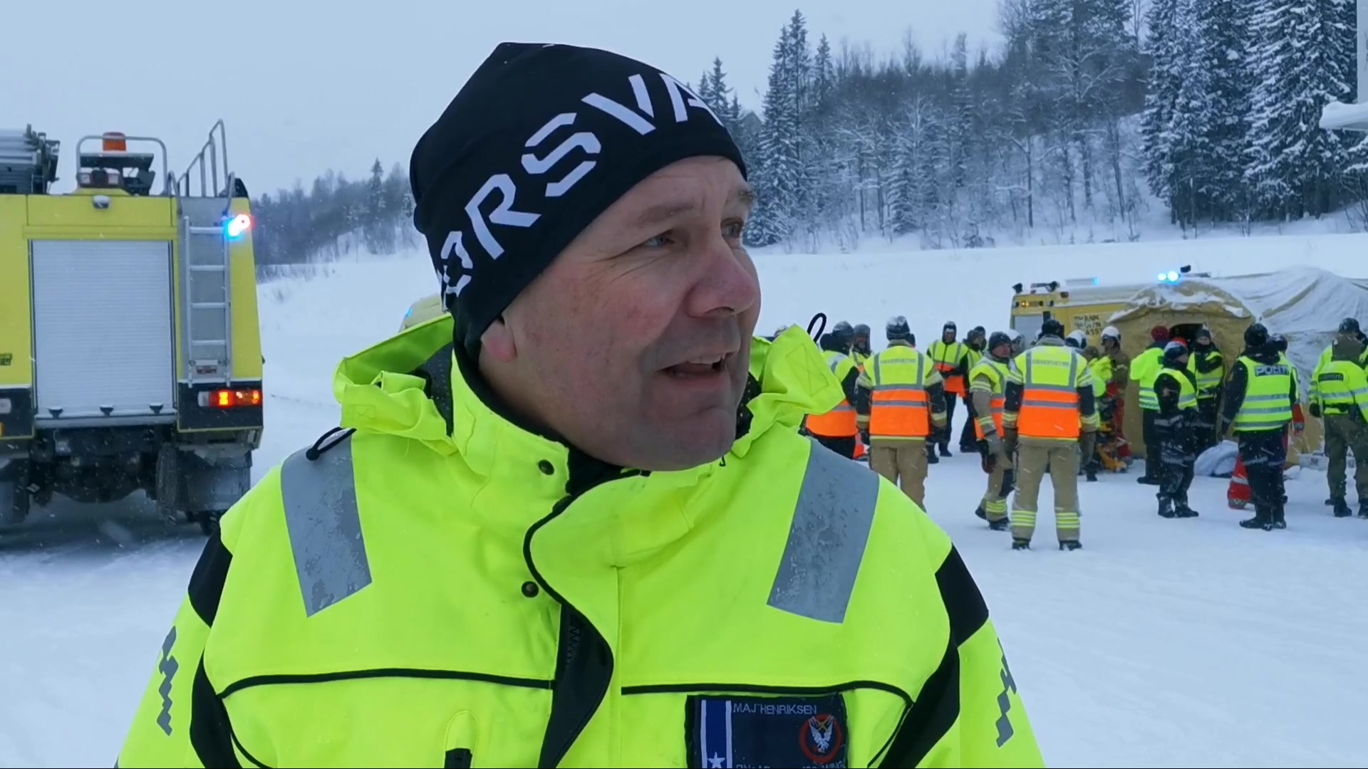 Havariøvelse på Bardufoss
